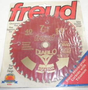 Circular Saw Blade Freud 7 1/4 40 Tooth Carbide Tip 5/8 Bore Teflon Coated