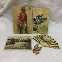5 Vintage Scrapbook Pieces Trade Cards Advertising