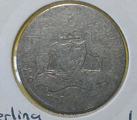 1918 Australian Florin Coat of Arms ( Early Date ) Silver Coin – King George V