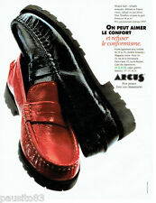 PUBLICITE ADVERTISING 046  1995  Les chaussures mocassins Arcus Sally