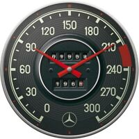 Mercedes Benz Tacho Nostalgie Wanduhr Glas 31 cm Wall Clock