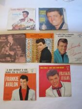 """Set of 7 PICTURE SLEEVE ONLY 7"""" Elvis Fabian Ed Byrnes Frankie Avalon"""