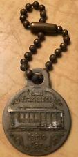 Vintage 1951 San Feancisco Cable Car Transit Souvenier Key Chain Metal Charm