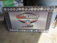 Coors Light Beer Sign Tin Tacker Nfl Teams Helmet Rec Room Man Cave Pub Bar L@K