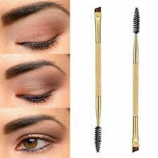 Pro Makeup Tools Bamboo Handle Double Eyebrow Brush + Eyebrow Comb Brushes US