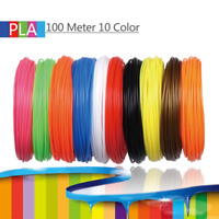 100% New 10 Pack Filament 1.75mm PLA Plastic Material for 3D Printer Drawing Pen