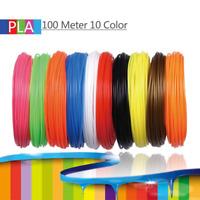 10 Pack Filament 1.75mm PLA Plastic Material for 3D Printer Drawing Print Pen