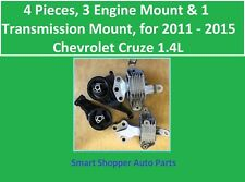 4 Pieces, 3 Engine & 1 Transmission Mount for 2011 - 2015 Chevrolet Cruze 1.4L