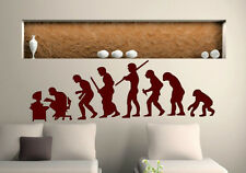 Funny human evolution ending at the computer desk wall stickers 60cm x 180cm UK