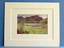 LITTLE LANGDALE TARN CUMBRIA VINTAGE MOUNTED 1908 10X8