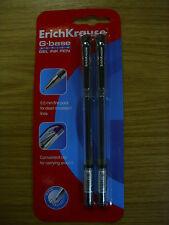 4 (2x2) NUOVO Erich Krause G Base Nero 0.5mm Belle Punto Di Buona Qualità Penne Gel Inchiostro