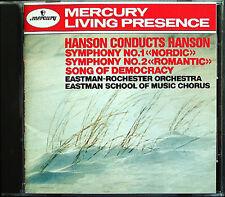Howard HANSON Conducts HANSON Symphony No.1 & 2 MERCURY LIVING PRESENCE CD