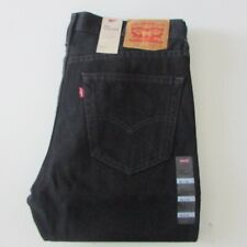NEW Levi's 516 Jeans Men's Black Denim Straight Fit Zip Fly 505160260