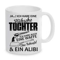 """Tasse Kaffeebecher """"Hübsche Tochter"""" Geschenk"""