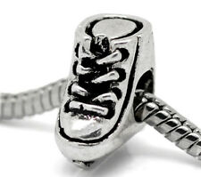 Ice Skate Figure Skating Hockey Sports Bead fits Silver European Charm Bracelets