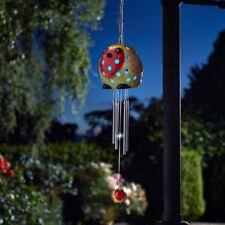 Robin Bird Wind Chime Solar Powered Light Up Colour Changing Garden Smart Garden