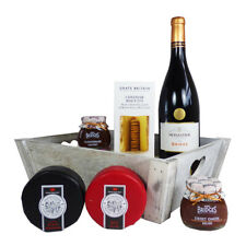 Wine Cheese & Chutney Gourmet Food Hamper Tray – Ideal Mothers Day Gift Idea