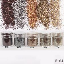 10ml Nail Art Glitter Powder Brown Coffee Super Fine Sheets Tips Decoration