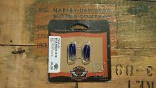 Harley Davidson Blue Wedge Light Bulbs 12V .24A 75191-01 NOS OEM 2 PACK