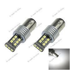 2X White 1157 BAY15D 15 SMD 2835 LED Car Light Canbus Error Free Non-polar E069