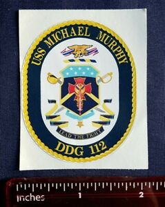 USS Michael Murphy DDG 112 Destroyer Navy Ship Crest Mini Sticker Decal LEAD FIG