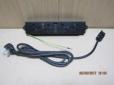 Powerbar PB70 underbench office 4 way fused power socket extension + cable 240v