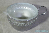 Vintage Silver Plate mirror finish Glass Creamer Made in England