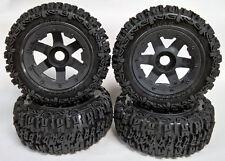 Rovan 5T SC Wheel & Tyre Set Excavator Trencher Front (2) Rear (2) fit HPI KM PR