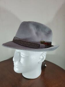 Selentino hats Tonak Collection Gray 71/4 58 Velour Fashion  New with tags