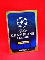 Topps match attax 2019-20 carte card champions league UCL 2 STATISTICS