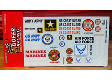 Gofer 11031 Armed Services Military Sponsors Decal Sheet 1/24 and 1/25