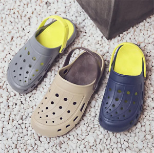Men Soft EVA Light Non-Slip Slippers Summer Sandals Casual Garden Hole Shoes