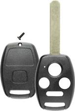 Keyless Remote Key Fob Replacement Case 4B Blade Shell For Honda NO Chip Slot