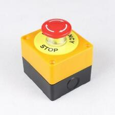 Red Sign Mushroom 1NO 1NC 10A 660V Emergency Stop Push Button Switch Waterproof^