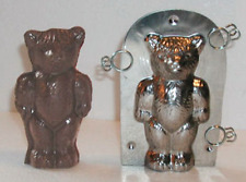 Teddy Bear Classic Stainless Steel Candy Chocolate Mold with Clips $15 Retail