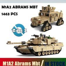 1463 Pcs Military A1 American Abrams Tank Building Blocks Legoed Army War WOT
