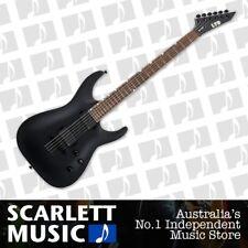 ESP LTD MH-400B Baritone Electric Guitar Black Satin w' EMG's *NEW*