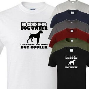 boxer owner novelty t shirt (all dog breeds available)