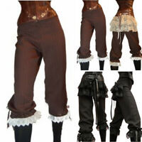 Womens Gothic Steampunk Pants Victorian Lace Trousers Lolita Cosplay Costumes