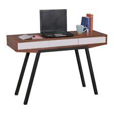 Schreibtisch Retro Walnuss 3 Schubladen Holz Metall Anrichte Konsolentisch