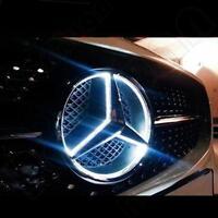 Grille Grill Star Emblem Badge For Mercedes Benz 06-2013 Illuminated LED Light