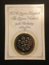 £ 5 Coin Armed REGINA ELISABETTA LA REGINA DELLE MADRI 90TH Compleanno cinque Pound 1990