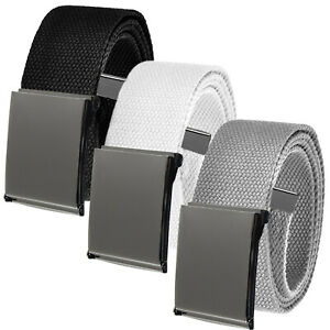 Men's Cut to Fit Casual Outdoor Golf Belt Pack Pewter Flip Top Buckle