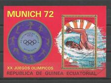 Jeux Olympiques d' été Guinée Equatoriale (3) bloc oblitéré