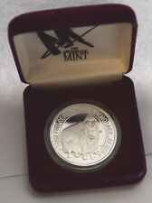 """1992 1 OZ SILVER  FUR RENDEZVOUS """"ANCHORAGE, ALASKA""""  IN BOX. THE SEAL OF STATE"""