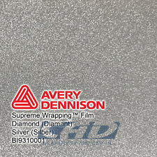 25 m (32 € / m) Avery Supreme Car Wrapping Film Folie silber diamant