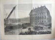 1871 French Civil War Fall Of The Column In The Place Vendôme