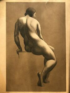 Manuel Silberger (American (Ohio) 1898-1968) Nude 1931 Lithograph to Paul Travis