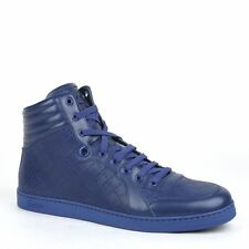 NEW Gucci 355645 Blue Diamante High Top Sneaker Trainers Shoes 6 G   US  7