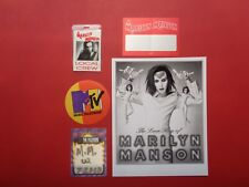 Marilyn Manson,1 Promo Photo,4 Very Rare Backstage passes,Tour Originals